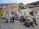 Sommergenuß auf unserer Terrasse im Innenhof